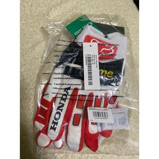 シュプリーム(Supreme)のSupreme fox racing gloves 赤 XL(装備/装具)