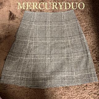 マーキュリーデュオ(MERCURYDUO)の【秋冬用】マーキュリーデュオ♡チェックスカート(ミニスカート)