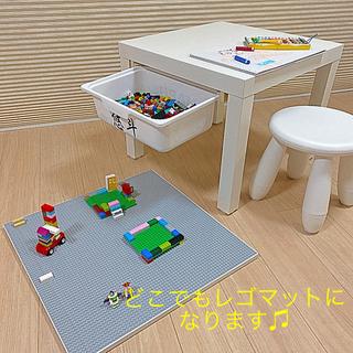 Lego - グレー★天板付き◼︎収納ボックス1つ◼︎レゴ テーブル