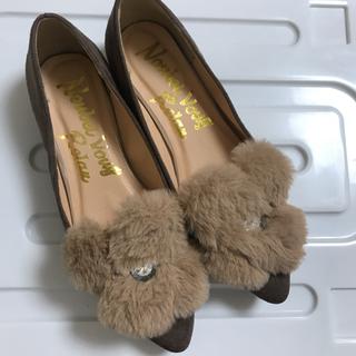 ファーパンプス(ローファー/革靴)