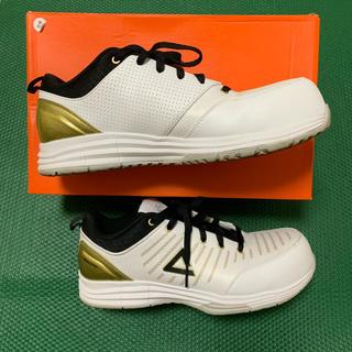 ピーク 安全靴  ホワイト×ゴールド PEAK SAFETY WOK-4505(その他)