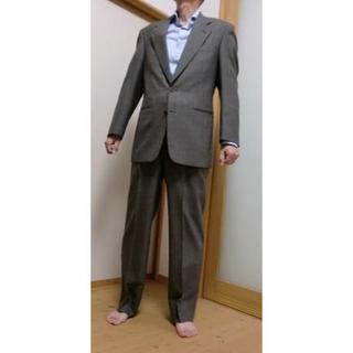 男性スーツ YA体6 グレーベージュ系 ネーム刺繍入っています。(スラックス/スーツパンツ)