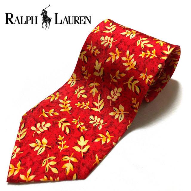 POLO RALPH LAUREN(ポロラルフローレン)の【美品】Ralph Lauren 米国製 ハンドメイド レッド メンズのファッション小物(ネクタイ)の商品写真