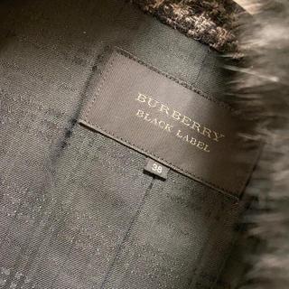 バーバリーブラックレーベル(BURBERRY BLACK LABEL)の【送料込】美品 ロングコート(ロングコート)