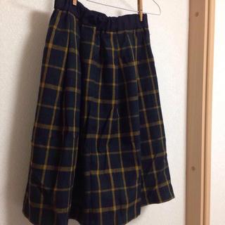 シマムラ(しまむら)のチェックミモレ丈スカート (ひざ丈スカート)