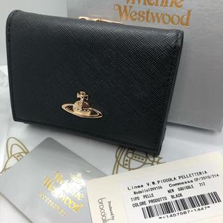 ヴィヴィアンウエストウッド(Vivienne Westwood)のVivienne Westwood コンパクト ミニ 財布 ブラック 新品未使用(財布)