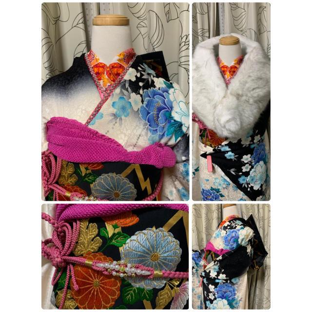店頭展示品 暈し 豪華 振袖 フルセット   レディースの水着/浴衣(振袖)の商品写真