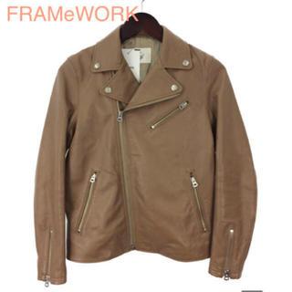 フレームワーク(FRAMeWORK)のFRAMeWORK   定価48600円ラムレザー ダブルライダースジャケット (ライダースジャケット)