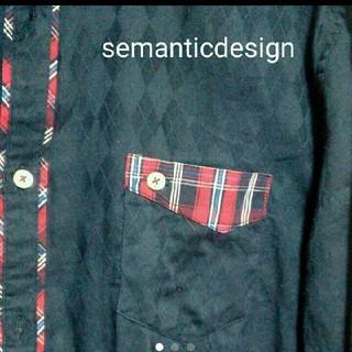 セマンティックデザイン(semantic design)のシャツ チェック(シャツ)