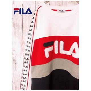 フィラ(FILA)の【 FILA 】【 ビッグロゴ 】 裏起毛 トレーナー(スウェット)