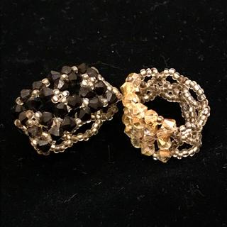 ビーズリング2個セット(リング(指輪))