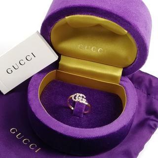 グッチ(Gucci)の未使用 グッチ GGランニング ダイヤ ロゴ ゴール リング XX9(リング(指輪))