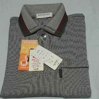 ダンロップ(DUNLOP)のDUNLOPメンズ日本製暖か起毛長袖ポロシャツ(ポロシャツ)