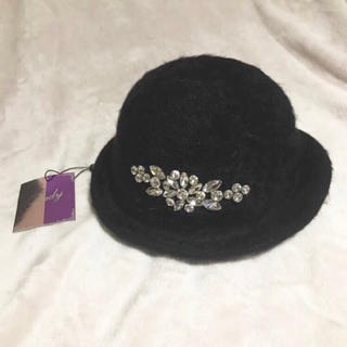 レディー(Rady)の【ラクマパック発送】 新品 未使用 タグ付き Rady 帽子 ブラック 黒(ハット)