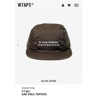 ダブルタップス(W)taps)のT-7 CAP TAFFETA OLIVE DRAB Mサイズ WTAPS(キャップ)