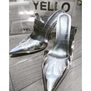 イエローブーツ(Yellow boots)の12/25まで!クリスマスセール!YELLO MIRROR MULES(ハイヒール/パンプス)