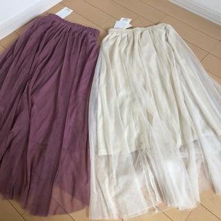 シマムラ(しまむら)のチュール スカート プチプラのあや(ロングスカート)
