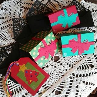 4セット お洒落な封筒つきミニカード(カード/レター/ラッピング)