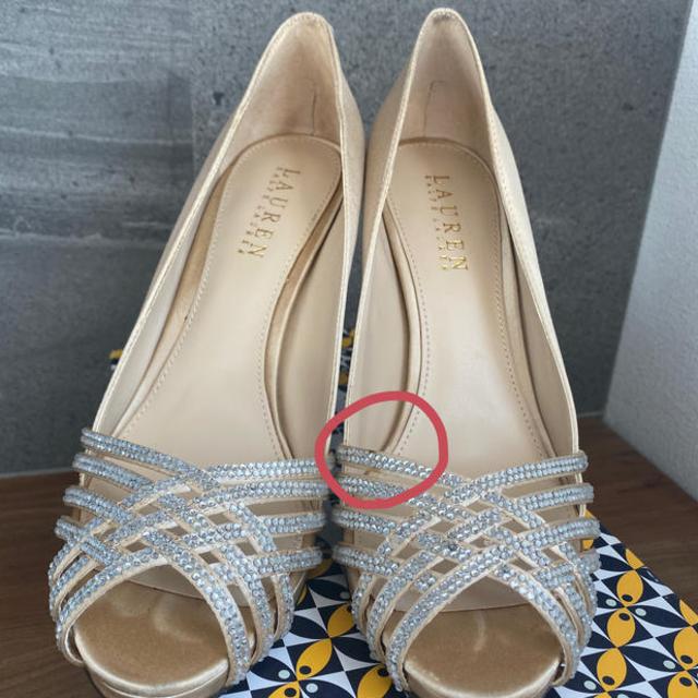 Ralph Lauren(ラルフローレン)のフロントラインストーンハイヒール(ラルフローレン) レディースの靴/シューズ(ハイヒール/パンプス)の商品写真
