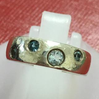 ヨンドシー(4℃)の4℃ シルバーリング カラーストーン4粒 ♯3(リング(指輪))