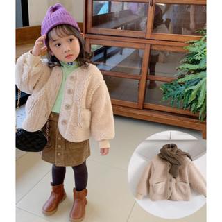 コドモビームス(こどもビームス)の新品 キッズ ベビー もこもこ アウター ボア コート 新作 韓国 子供服 90(コート)