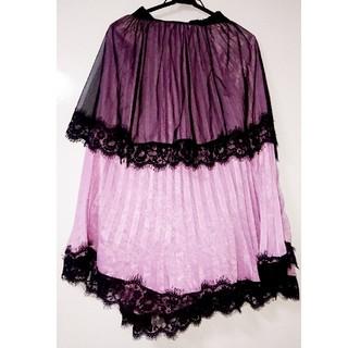 イートミー(EATME)のblack & pinksの小悪魔スカート(ロングスカート)