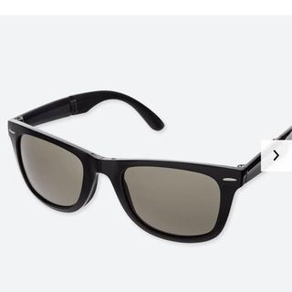 ユニクロ(UNIQLO)のユニクロ ウェリントンホールディングサングラス ブラック(サングラス/メガネ)
