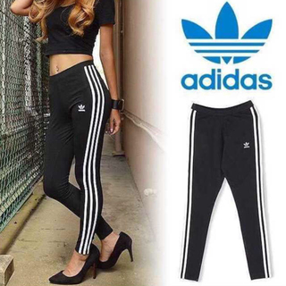 adidas - adidas originals 3STRIPE LEGGINGS 黒白 XS