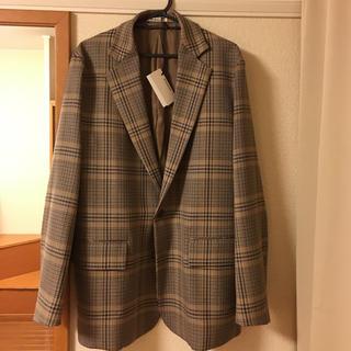 コモリ(COMOLI)のauralee wool serge check jacket 19aw(テーラードジャケット)