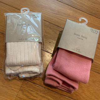ザラキッズ(ZARA KIDS)の新品 ザラベイビー Zara Baby タイツ 2点 12〜24(靴下/タイツ)
