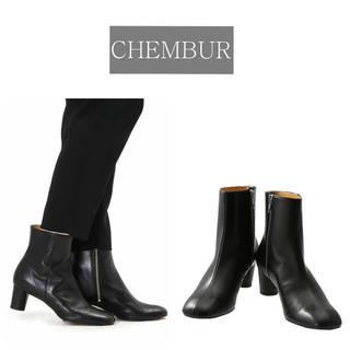 ドゥーズィエムクラス(DEUXIEME CLASSE)の19AW新品 CHEMBUR ラウンドスクエア ショートブーツ 定価47300円(ブーツ)