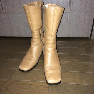 エレガンスヒミコ(elegance卑弥呼)の【elegance卑弥呼】ベージュ ミドル丈ブーツ (ブーツ)