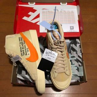 ナイキ(NIKE)のNIKE × OFF WHITE BLAZER MID THE TEN 新品(スニーカー)