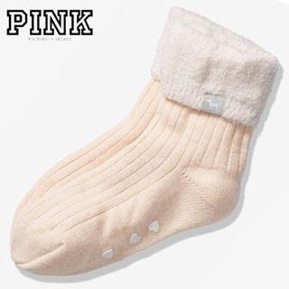 ヴィクトリアズシークレット(Victoria's Secret)のPINK♡ルームソックス♡シャンパーニュ(ルームウェア)