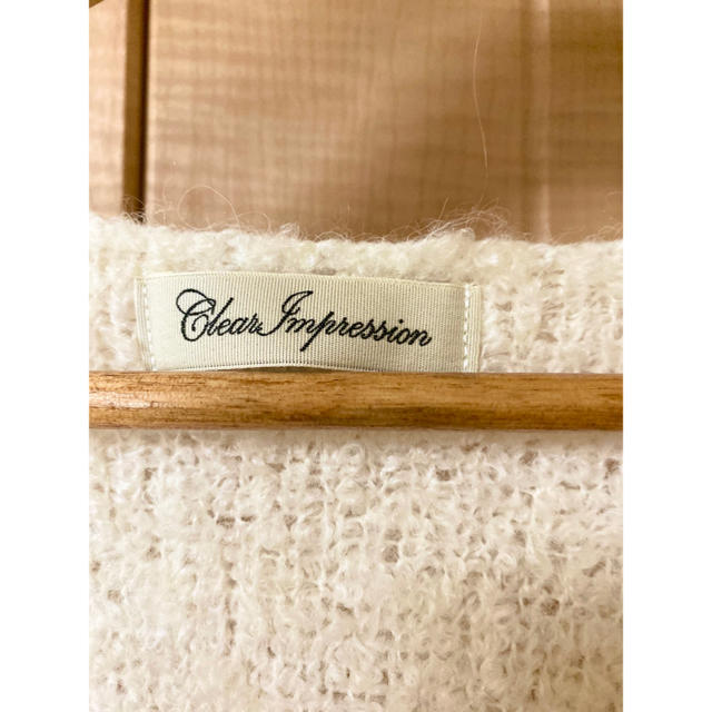 CLEAR IMPRESSION(クリアインプレッション)のCLEAR IMPRESSON  ニットコート 美品 レディースのジャケット/アウター(ニットコート)の商品写真