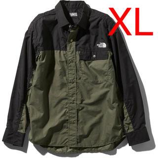 ザノースフェイス(THE NORTH FACE)の新品未使用 XL ヌプシシャツ ノースフェイス カーキ(シャツ)