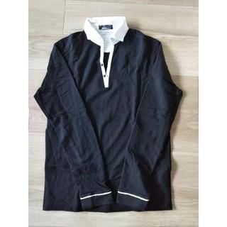 ビームス(BEAMS)のBEAMS シャツ カットソー 黒 メンズ 襟つき(Tシャツ/カットソー(七分/長袖))