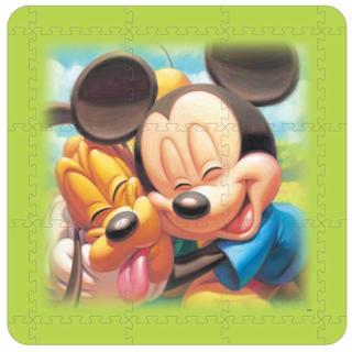 ディズニー(Disney)のミッキー&プルート ジョイントマット(フロアマット)