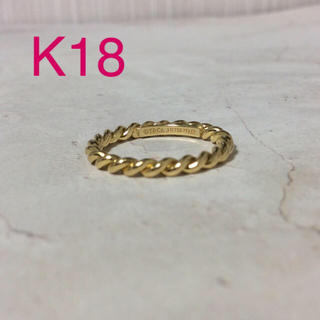 ティファニー(Tiffany & Co.)のTiffany ツイストリング K18(リング(指輪))