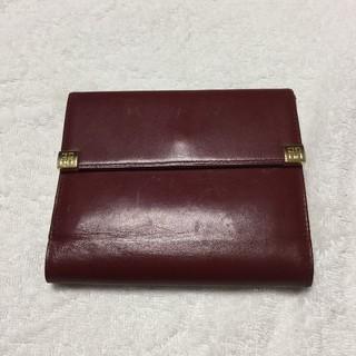 ジバンシィ(GIVENCHY)のGIVENCHY ジバンシィ 三折財布 レザー ボルドー がま口 ワインレッド(財布)