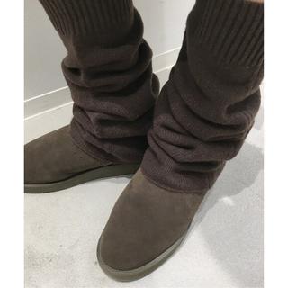 アパルトモンドゥーズィエムクラス(L'Appartement DEUXIEME CLASSE)の11/8まで限定出品♪新品LEG WARMER☆ブラウン(その他)