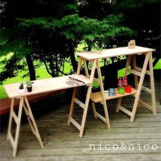キャンプ アウトドア キッチン ラック(テーブル/チェア)