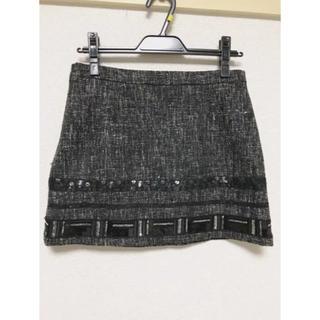 マーキュリーデュオ(MERCURYDUO)のマーキュリーデュオ♡スカート、スパンコール付き、M(ミニスカート)