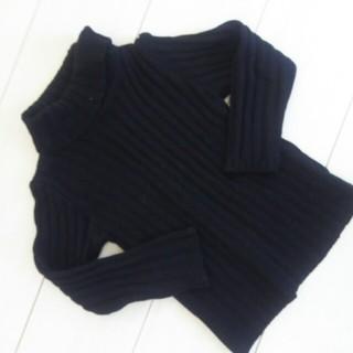 ニシマツヤ(西松屋)のERFINdoll☆黒ニットサイズ110(ニット)