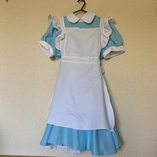 メイド服 ブルー 水色