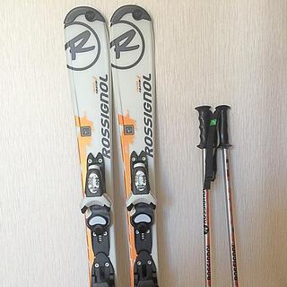 ロシニョール(ROSSIGNOL)の子ども用 スキー 100 ストック75 ロシニョール キッズ セット(板)
