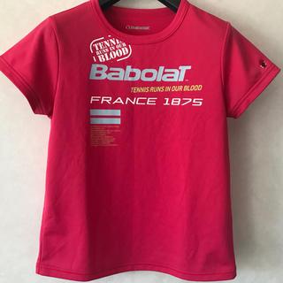 バボラ(Babolat)のバボラ レディース テニス シャツ M 赤ピンク(ウェア)