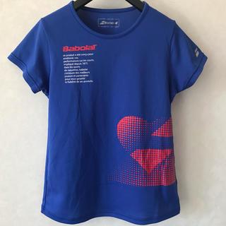 バボラ(Babolat)のバボラ レディース テニス シャツ M ブルー(ウェア)