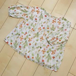 花柄 ブラウス (シャツ/ブラウス(半袖/袖なし))
