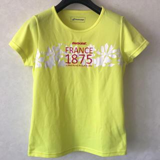 バボラ(Babolat)のバボラ レディース テニス シャツ M 黄色(ウェア)
